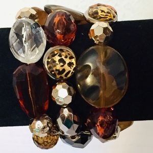 Three tier stretch bracelet. Beautiful beads
